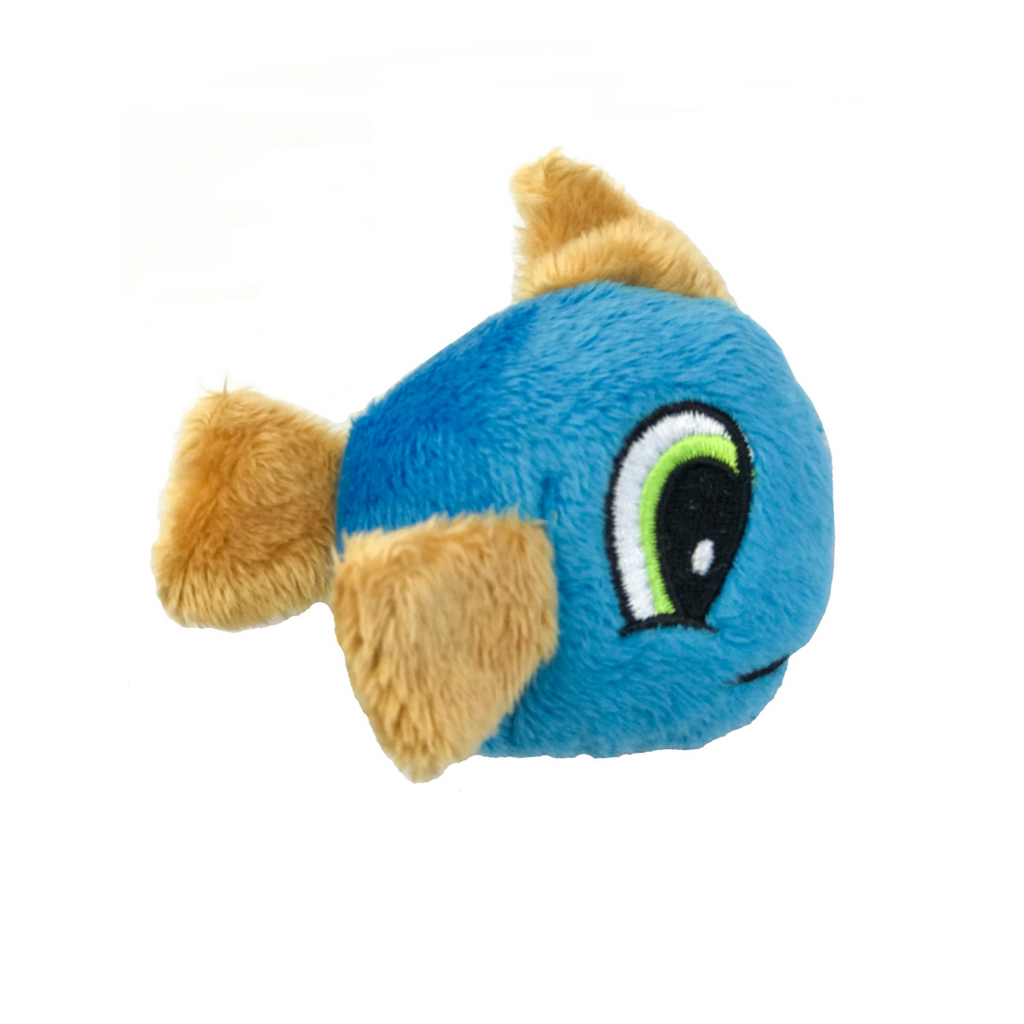 Loopies Catnip Fish Cat Toy - Blue & Beige - Coco & Pud