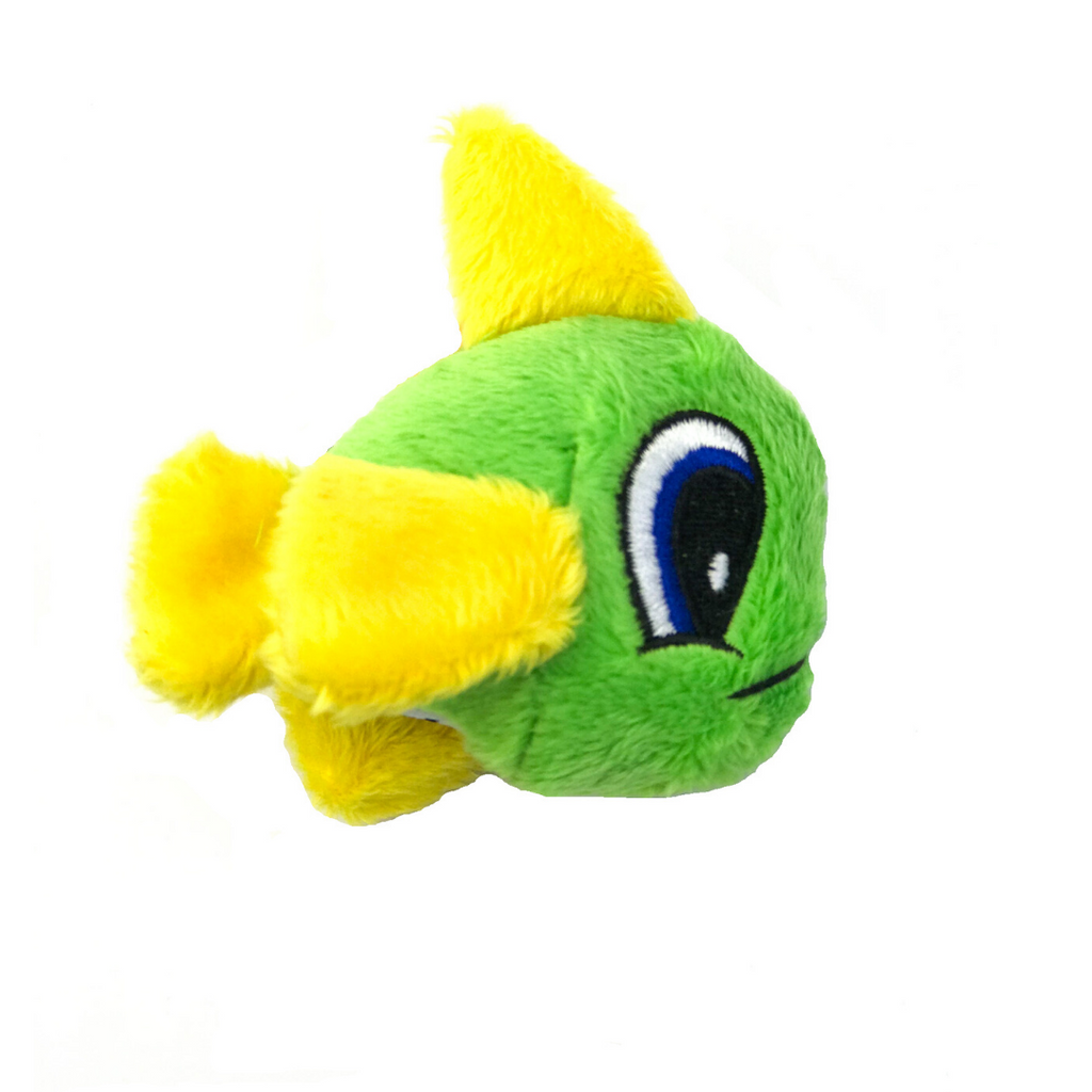 Loopies Catnip Fish Cat Toy - Green & Yellow - Coco & Pud