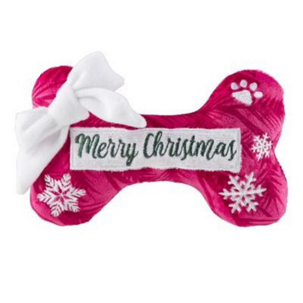 Coco & Pud Puppermint Bone Merry Christmas Dog Toy