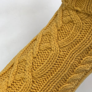 Coco & Pud Mustard Cable Dog Sweater