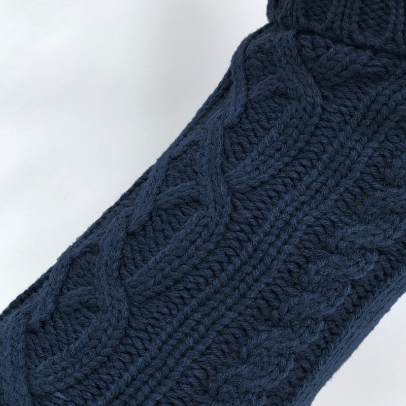 Coco & Pud Cable Dog Sweater - Navy Texture