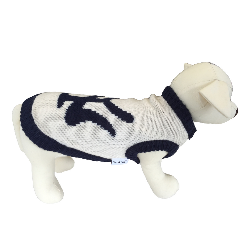Coco & Pud New York Dog Sweater - Navy