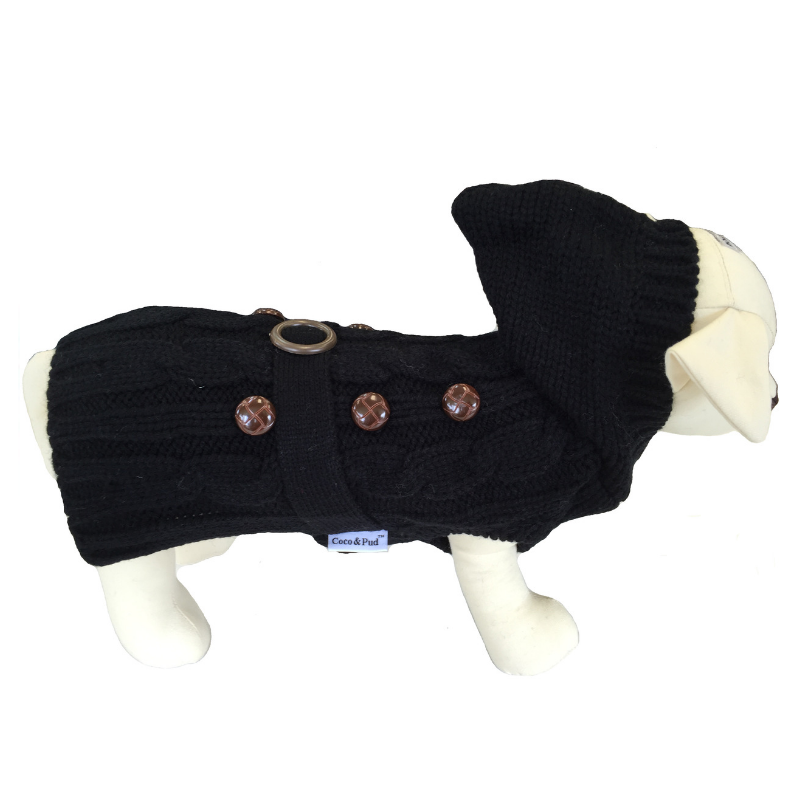 Coco & Pud Paris Dog Sweater - Black - Coco & Pud