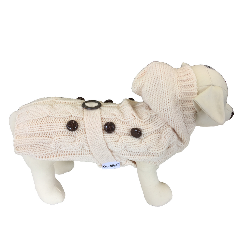 Coco & Pud Paris Dog Sweater - Cream - Coco & Pud