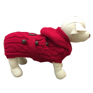 Coco & Pud Paris Dog Sweater - Red - Coco & Pud