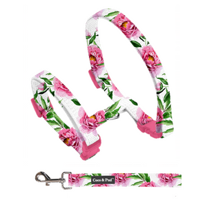 Coco & Pud Peony Cat Harness & Lead Set