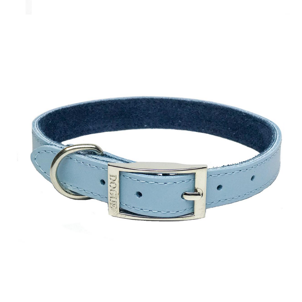 coco & Pud - Dogue Plain Jane Dog Collar-Blue