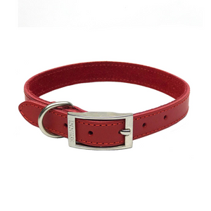 Coco & Pud- Dogue Plain Jane Dog Collar - Red