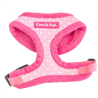 Coco & Pud Polka Dot Cat Harness - Pink