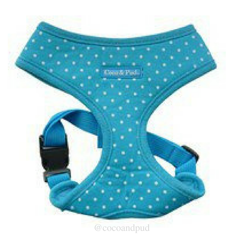 Polka Dot Harness - Blue (Discontinued Stock) - Coco & Pud