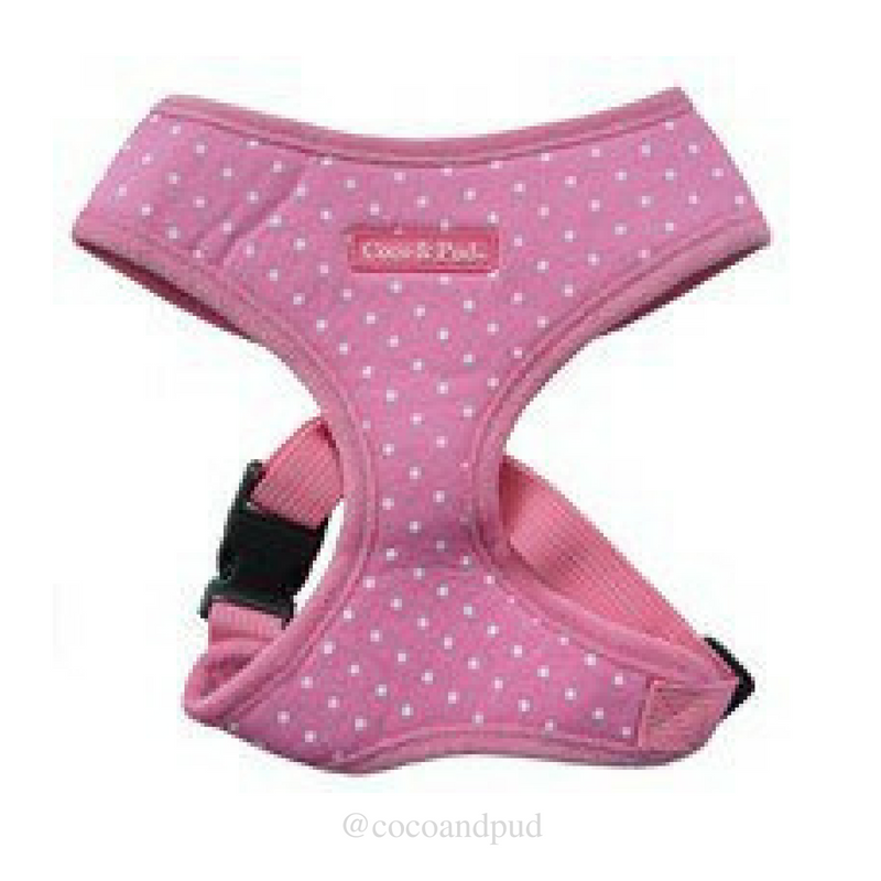 Polka Dot Harness - Pink (Discontinued Stock) - Coco & Pud