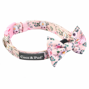 Coco & Pud Provence Rose Collar & Bowtie