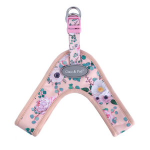 Coco & Pud Provence Rose UniClip Dog Harness flat lay