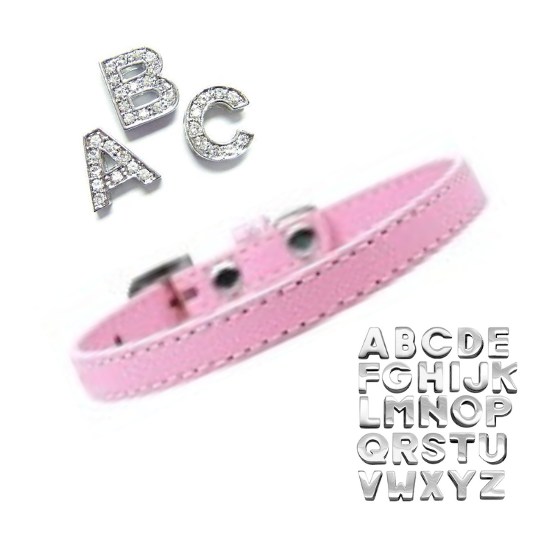 Plain Puppy Collar with Crystal Buckle - Light Pink - Coco & Pud