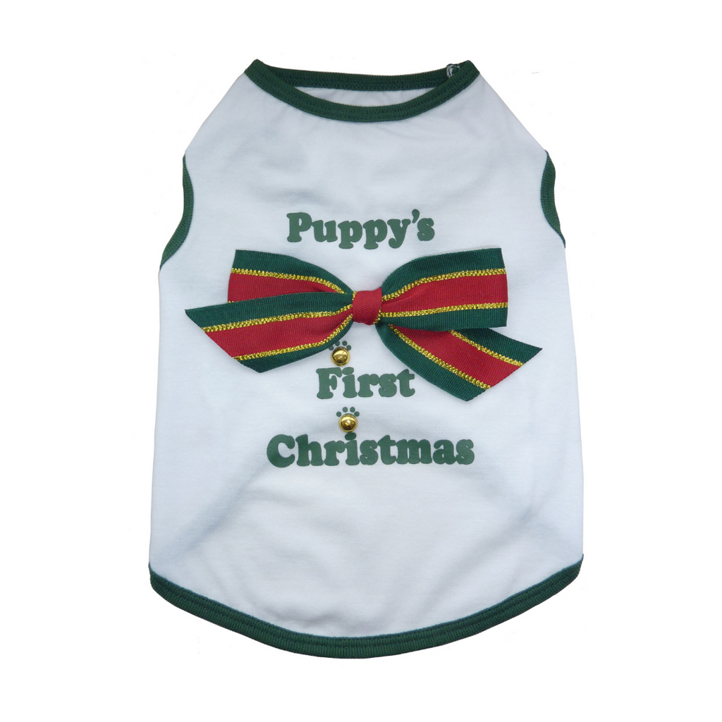 Coco & Pud Puppy's First Christmas T-shirt