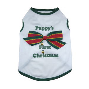 Puppy's First Christmas T-shirt - Coco & Pud