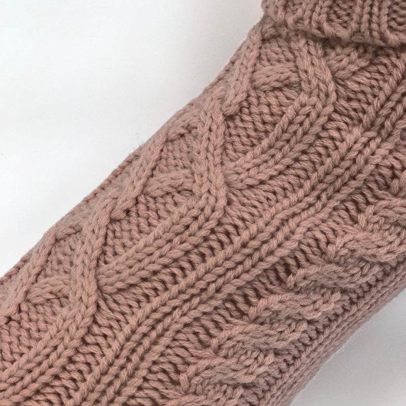 Coco & Pud Cable Dog Sweater Rose Texture