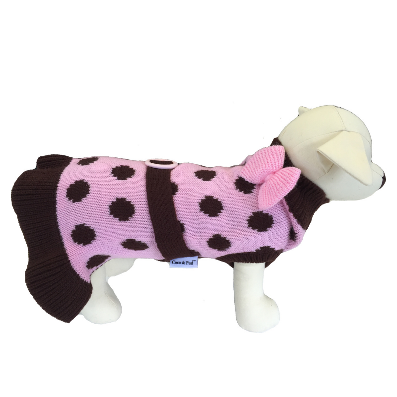 Coco & Pud Sassy Girl Dog Sweater
