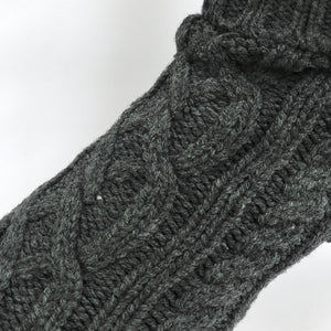 Coco & Pud Cable Dog Sweater Slate texture