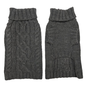 Coco & Pud Dog Sweater - Slate Front & back