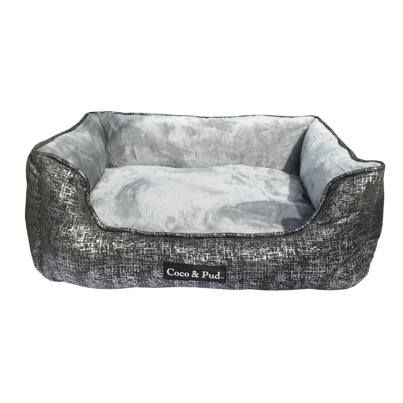 Soho Luxe Lounge Bed - Pewter - Coco & Pud
