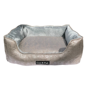 Coco & Pud Soho Luxe Lounge Bed - Silver - Coco & Pud