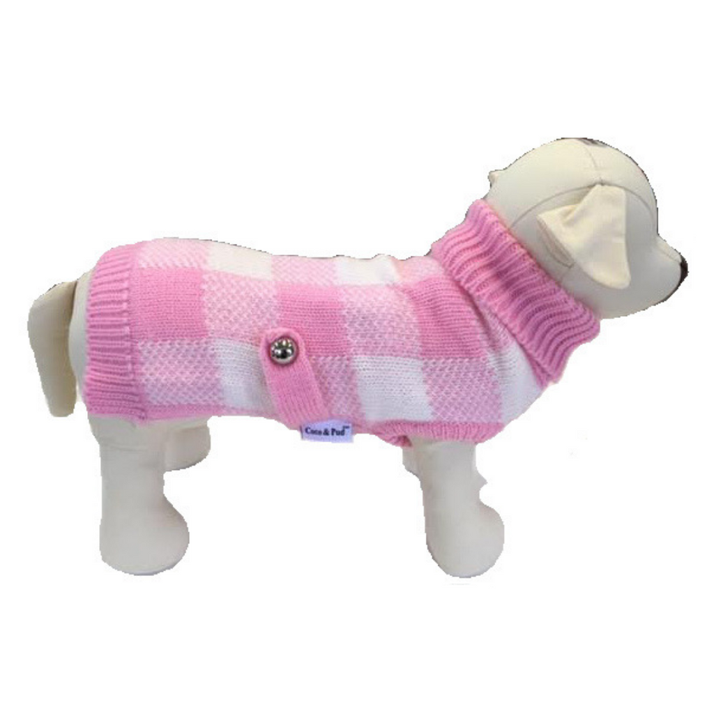 Coco & Pud Boston Dog Sweater - Pink