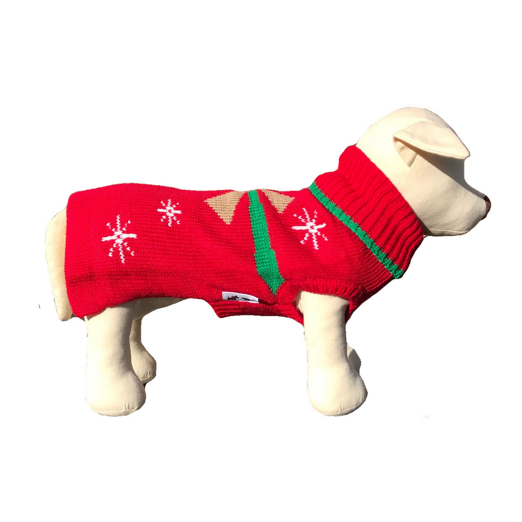 Christmas Present Dog Sweater - Coco & Pud