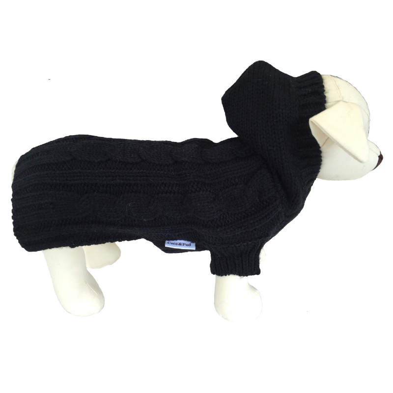 Coco & Pud Edinburgh Dog Sweater - Black - Coco & Pud