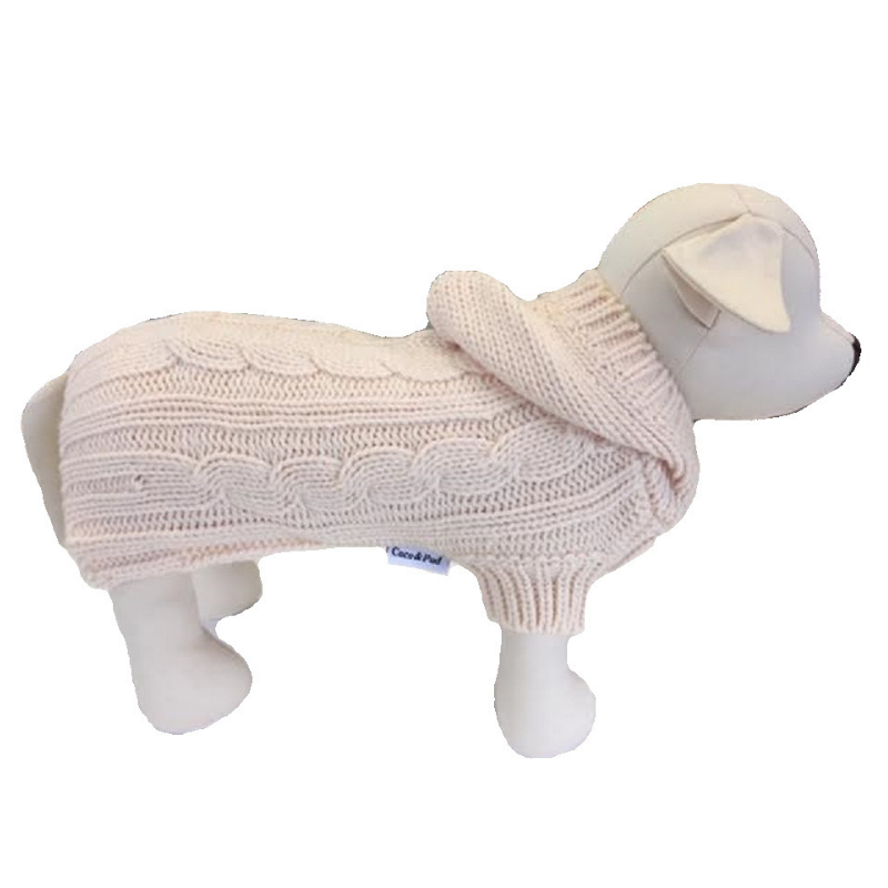 Coco & Pud Edinburgh Dog Sweater - Cream - Coco & Pud