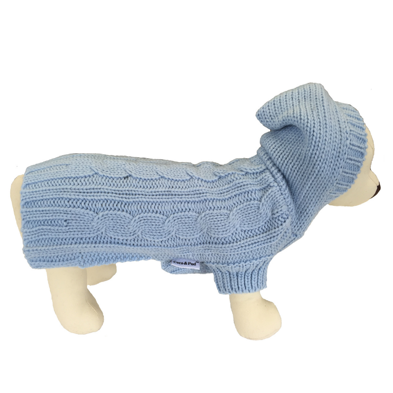 Coco & Pud Edinburgh Dog Sweater - Light Blue - Coco & Pud