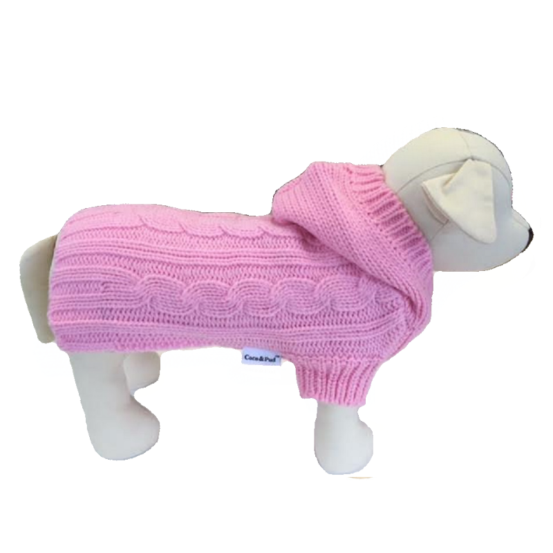 Coco & Pud Edinburgh Dog Sweater - Light Pink - Coco & Pud