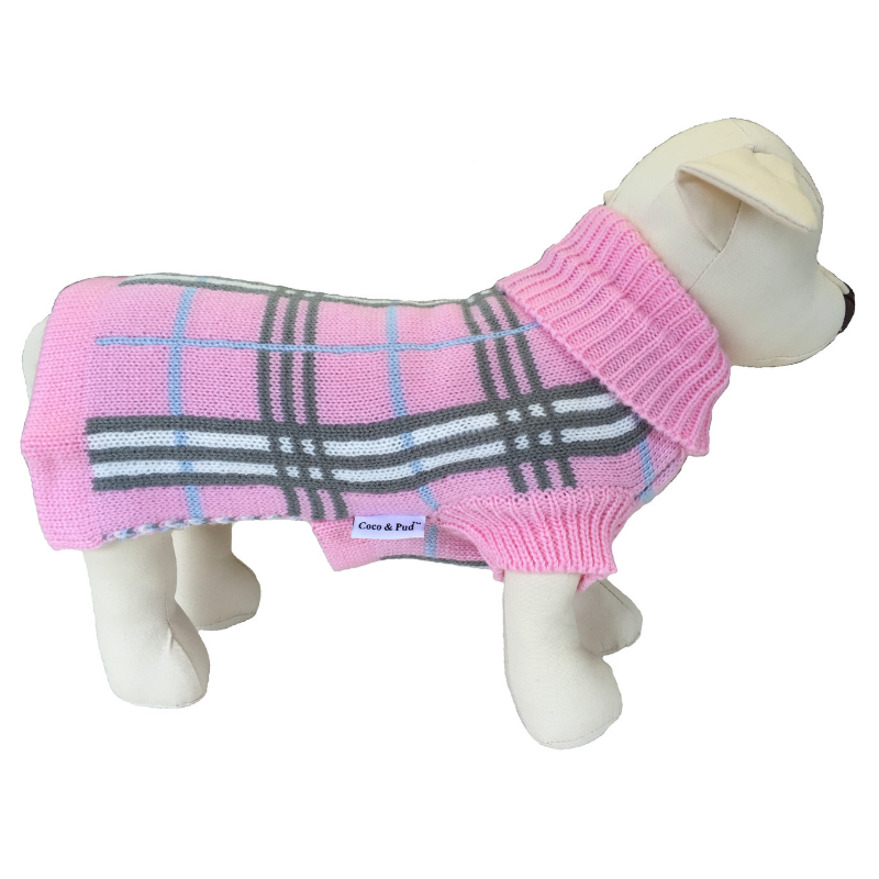 Coco & Pud Knightsbrige Dog Sweater - Pink
