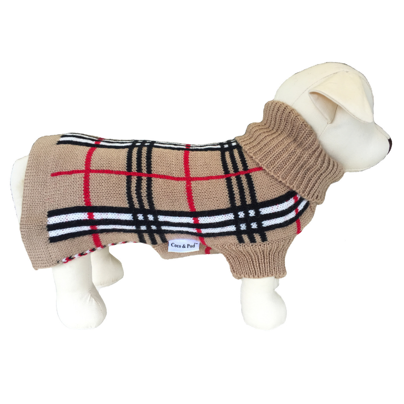 Coco & Pud Knightsbridge Dog Sweater - Beige