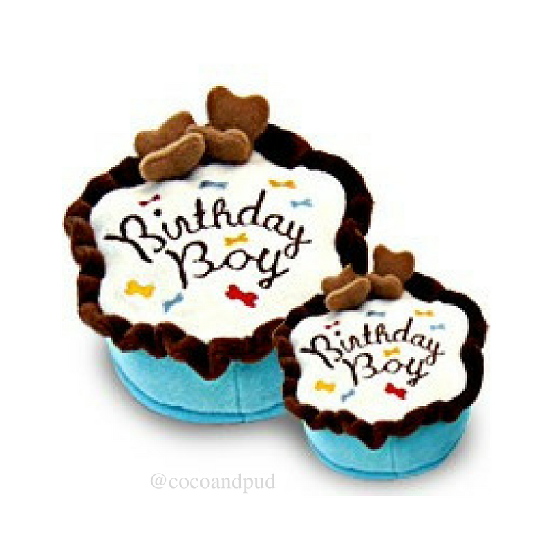 Birthday Cake Boy Dog Toy - Coco & Pud