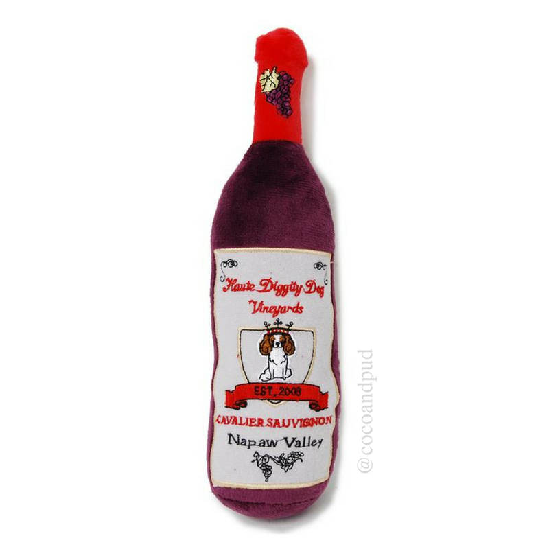 Cavalier Sauvignon Wine Dog Toy - Coco & Pud