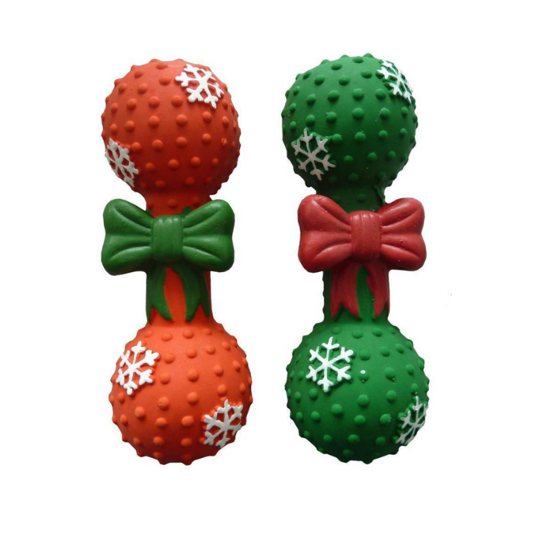 Christmas Dumbbell Dog Toy - Coco & Pud