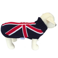 Coco & Pud Union Jack Dog Sweater