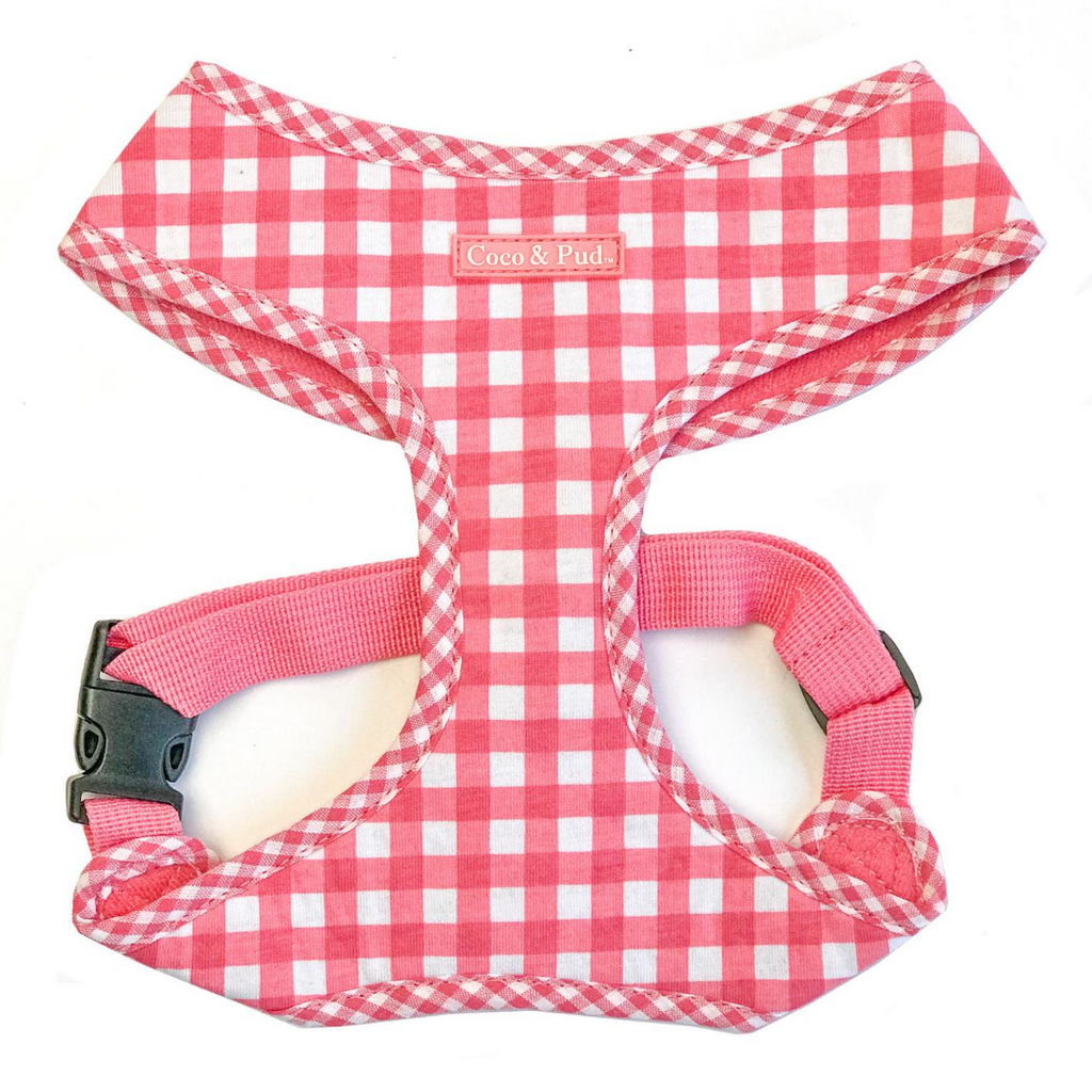 Coco & PUd Gingham Harness Pink
