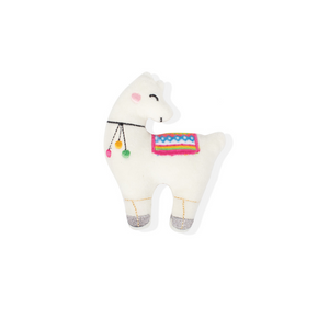 Fringe Studio White Llama Small Dog Toy - Coco & Pud