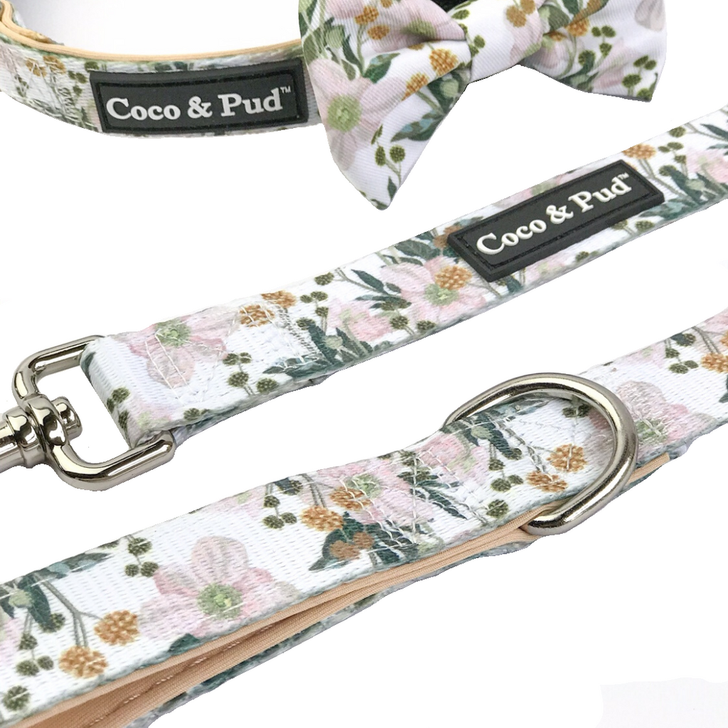 Coco & Pud Windflower Reversible Dog lead/ Leash - Coco & Pud