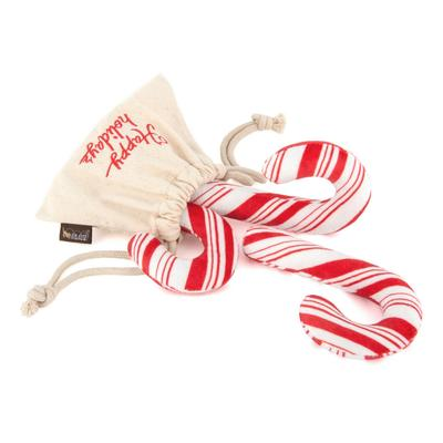Holiday Classic Candy Canes Dog Toy - Coco & Pud