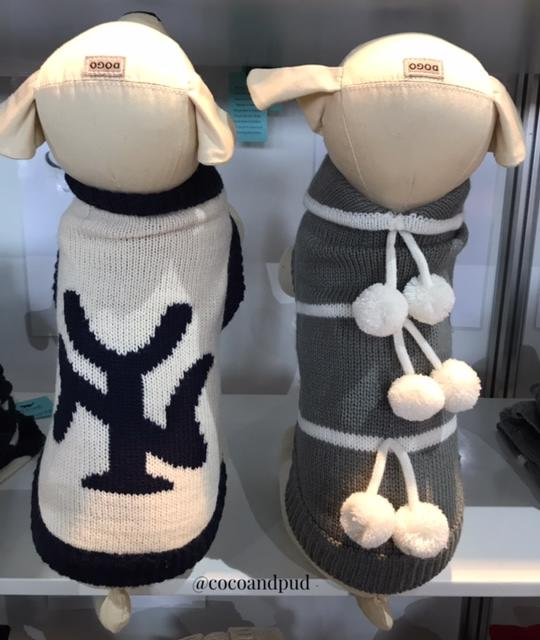 Coco & Pud New York Dog Sweater - Cream/ Navy - Coco & Pud