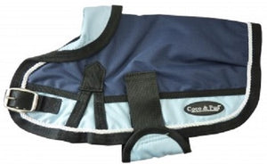 Waterproof Dog Coat 3022-B Navy/ Light Blue (For Big Dogs) - Coco & Pud