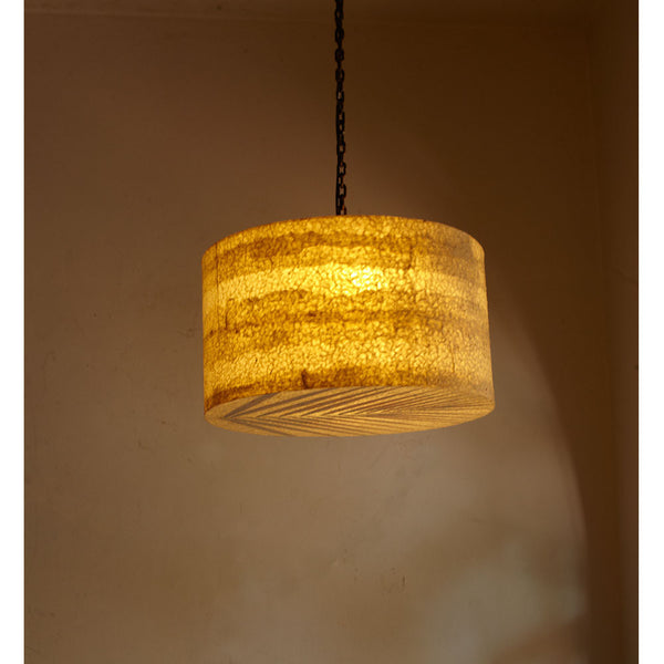 Acrylic Drum Leaf Hanging Light