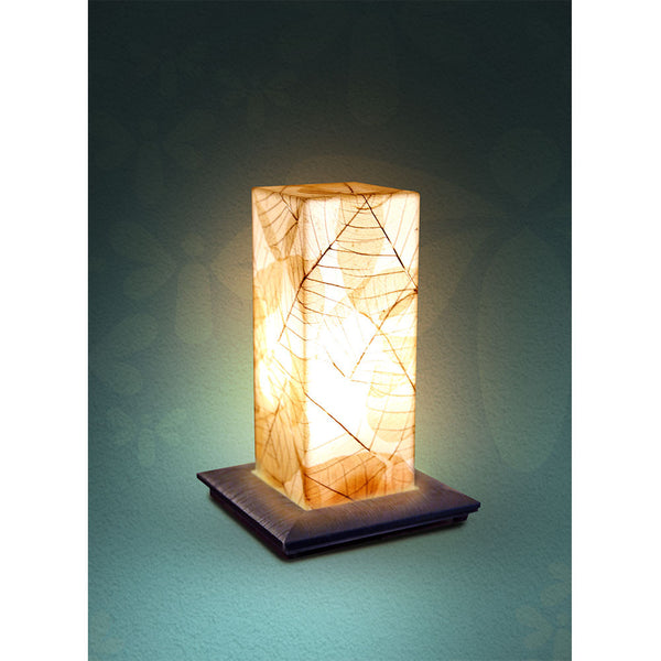 Acrylic With Dried Leaf Table Lamp - Beige