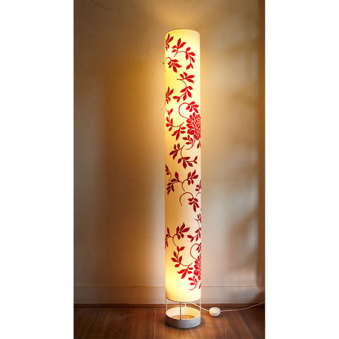 Big Flowers Tube Floor Lamp