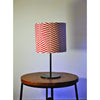 Black Metal Table Lamp with Illusion Shade