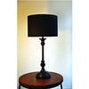 Classic Metal Table Lamp with Plain Shade