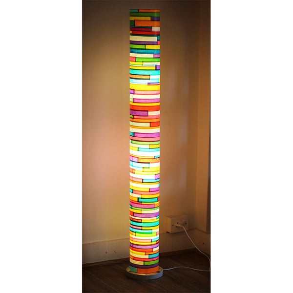 Colourful Paper Tube Floor Lamp